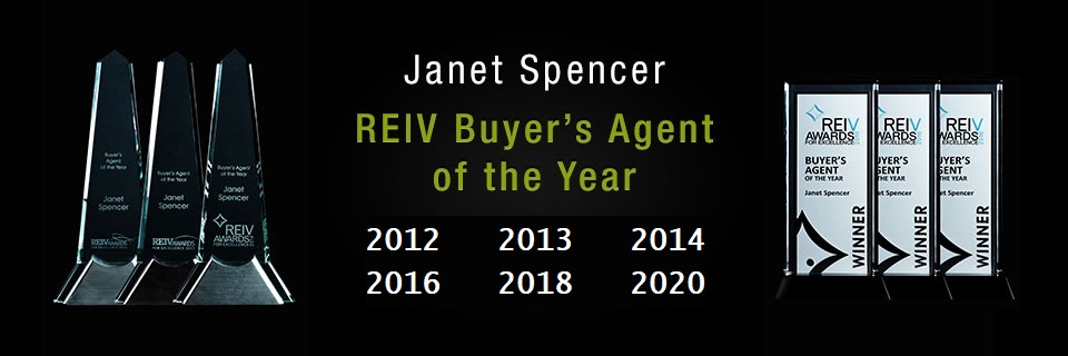 Janet Spencer REIV Buyers Agent of the Year 2012, 2013, 2014, 2016, 2018, 2020